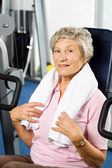 Senior lady working out — Stock Photo