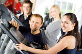 Personal trainers giving instruction — Stock Photo