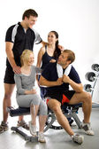 Group of friends in the gym — Foto de Stock