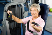 Older woman working out — Stock Photo