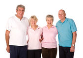 Group of mature exercise friends — Stock Photo