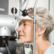 Lady having eye test examination — Stock Photo