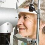 Lady having eye test examination — Stock Photo #41868485