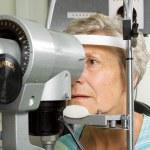 Lady having eye test examination — Stock Photo #41869423