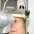 Lady having eye test examination — Stock Photo #41869577