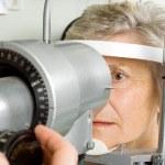 Lady having eye test examination — Stock Photo #41869987