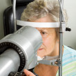 Lady having eye test examination — Stock Photo #41870049