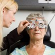 Lady having eye test examination — Stock Photo #41872141