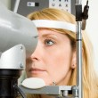 Young woman having eye test — Stock Photo