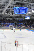 Hockey arena during the timeout — Stock Photo