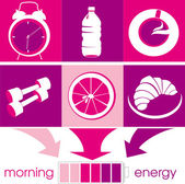 Morning energy — Stock Vector