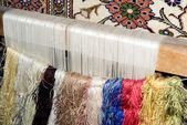Frame for making a turkish carpet — Stock Photo