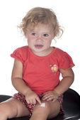 ほとんどの女の子または彼女の足に石膏を持つ幼児 — ストック写真