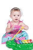 Little girl with xylophone — Stock Photo