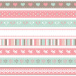 Set of seamless ribbons — Stock Vector