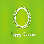 Simple Easter greeting card — Stock Vector