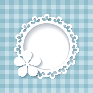 Blue greeting card or a baby shower