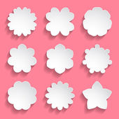 Paper floral frames — Stock Vector