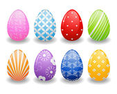 Ester eggs with patterns — Stock Vector
