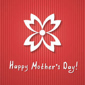 Red greeting card for a mothers day — Stock Vector