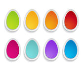 Paper eggs — Stock Vector