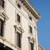 Architecture of renaissance in Ferrara — Stock Photo