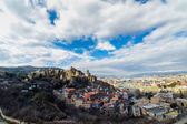 Narikala Citadel and Old Tbilisi — Стоковое фото