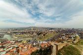 Narikala Citadel and Old Tbilisi — Stok fotoğraf