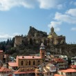 Stock Photo: NarikalCitadel and Abanotubani, Old Tbilisi