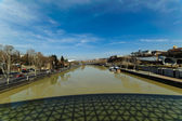 River Mtkvari (Kura) & Tbilisi — Stock Photo