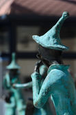 Statues of 21 Musicians in front of Administrative Building — ストック写真