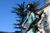 Statues of 21 Musicians in front of Administrative Building — Стоковое фото