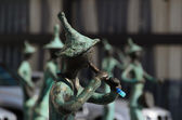 Statues of 21 Musicians in front of Administrative Building — Foto de Stock