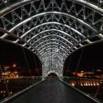 The Bridge of Peace at night, Tbilisi. — Stock Photo