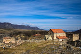 Dmanisi Sioni basilica and ruins of the Medieval fortress. — Foto Stock