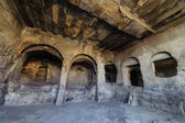 "Uplistsikhe (literally, ""the lord's fortress"") is an ancient rock-hewn town in eastern Georgia. — ストック写真"