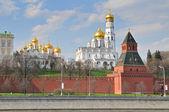 Visa av berömda katedralen bebådelsen i kreml, ryssland. — Stockfoto