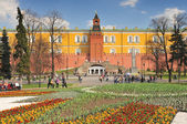 Russia, Moscow, The Kremlin Arsenal, former armory built within the grounds of the Moscow Kremlin in Russia — Stock Photo