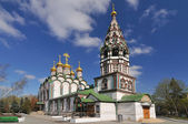 Russia, Moscow, Church of Saint Nicholas in Khamovniki, late 17th century parish church of a former weavers sloboda in Khamovniki District of Moscow. — Foto de Stock