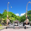 Temple of traditional national architecture on island Bali, Kuta Indonesia. — Stock Photo