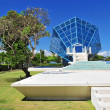 The Diamond shaped wedding chapel located at Grand Bali Beach Hotel. — Stock Photo