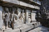 Bas-reliefs of Hindu temple Prambanan. Indonesia, Java, Yogyakarta — Stock Photo