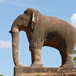 One of the huge elephant statues guarding the corners of the ancient Khmer temple of East Mebon, Siem Reap, Cambodia. — Stock Photo #44383907
