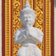 Small White Buddha Statues in The Silver Pagoda, aka The Temple of the Emerald Buddha at The Royal Palace, Phnom Penh, Cambodia — Stock Photo