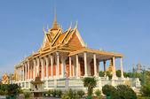 Slavná stříbrná pagoda uvnitř královského paláce odůvodnění phenom phen kambodža — Stock fotografie