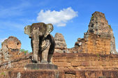 View of the ancient Khmer temple of East Mebon. — Stock Photo