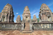 View of the ancient Khmer temple of East Mebon, part of the Angkor complex at Siem Reap, Cambodia. — Stock Photo