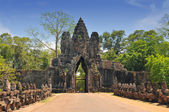 South Gate of Angkor Tom, Cambodia — Foto Stock
