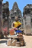 Buddha statue in Bayon Temple, Angkor Wat, Cambodia — Stock Photo