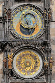 Detail of astronomical clock in Prague, Czech republic — Stock Photo